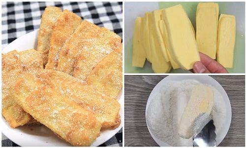 cách làm bánh khoai lang chiên tẩm dừa 4 cách làm bánh khoai lang chiên tẩm dừa Mùa đông làm bánh khoai lang chiên tẩm dừa ăn vặt tại nhà cach lam banh khoai lang chien tam dua an vat tai nha 4