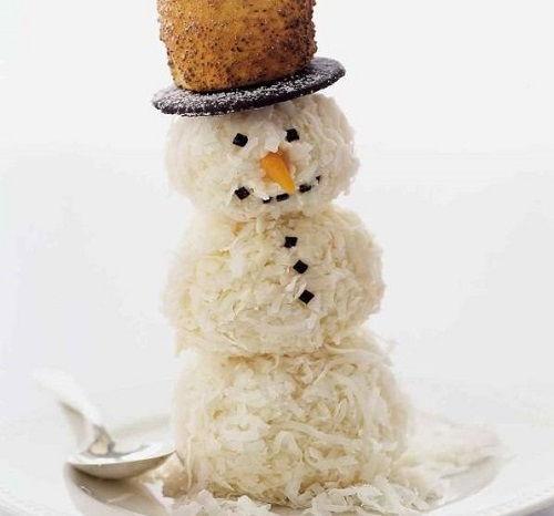 cách làm bánh người tuyết 1 cách làm bánh người tuyết Giáng sinh vào bếp làm bánh kem dừa người tuyết cực độc đáo cach lam banh nguoi tuyet bang kem vani phu com dua 1