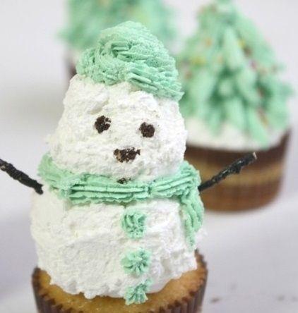 Giáng sinh vào bếp làm bánh kem dừa người tuyết cực độc đáo