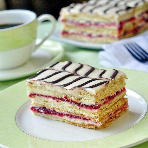 cách làm bánh mille feuille phúc bồn tử 4