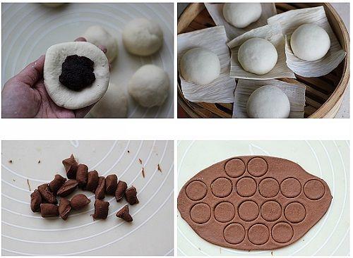 cách làm bánh bao gấu trúc 3