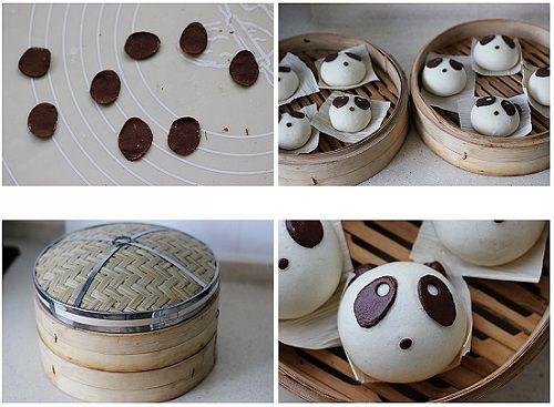 cách làm bánh bao gấu trúc 4
