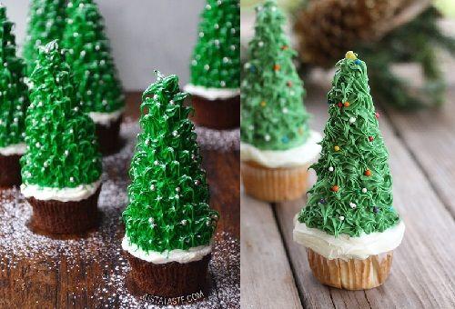 cách làm bánh cupcake cây thông noel 8 cách làm bánh cupcake cây thông noel Giáng sinh lấp lánh với bánh cupcake cây thông Noel siêu đáng yêu cach lam banh cupcake cay thong noel lung linh sac mau 10