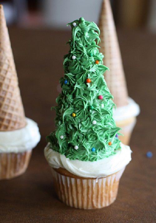 cách làm bánh cupcake cây thông noel 6 cách làm bánh cupcake cây thông noel Giáng sinh lấp lánh với bánh cupcake cây thông Noel siêu đáng yêu cach lam banh cupcake cay thong noel lung linh sac mau 6