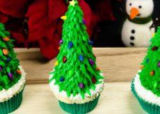 cách làm bánh cupcake cây thông noel 7
