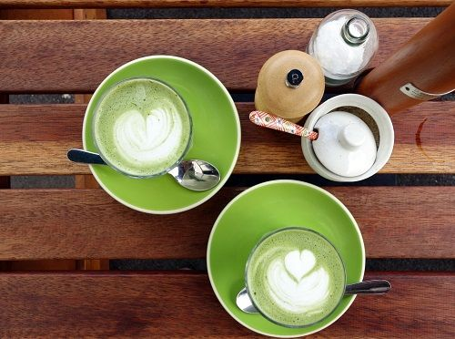 cách pha latte trà xanh 5