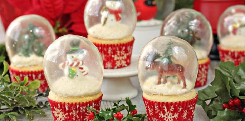 Lạ mắt với cách làm quả cầu tuyết cupcake siêu độc đáo cho ngày Noel