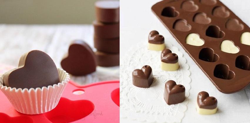 Cách làm socola hình trái tim 9 cách làm socola hình trái tim Làm socola tươi hình trái tim ngọt ngào dành tặng một nửa yêu thương cach lam socola hinh trai tim ngot ngao mua valentine 8