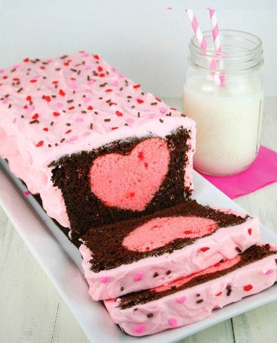 cách làm bánh trái tim ẩn giấu 1