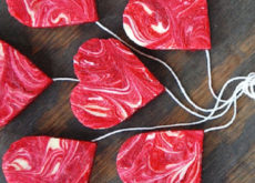 cách làm bánh redvelvet phô mai trái tim 5