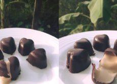 cách làm socola trái tim nhân tiramisu 10