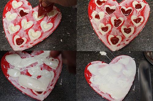 cách làm chocolate nhân siro dâu 4