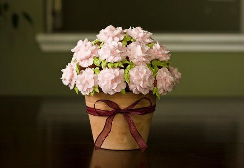 cách làm bình hoa cupcake 4