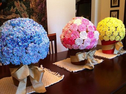 cách làm bình hoa cupcake 5