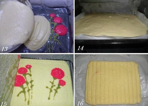 cách làm bánh bông lan cuộn hoa cẩm chướng 4 cách làm bánh bông lan cuộn hoa cẩm chướng Cách làm bánh bông lan cuộn hoa cẩm chướng cho ngày của mẹ cach lam banh bong lan cuon hoa cam chuong cho ngay cua me 4