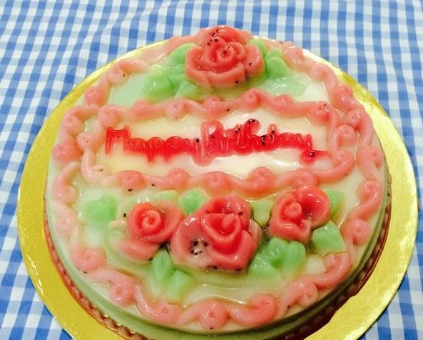 cách làm bánh sinh nhật bằng thạch rau câu 3D 1