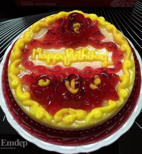 cách làm bánh sinh nhật bằng thạch rau câu 3D 11