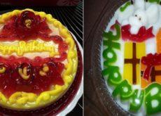 cách làm bánh sinh nhật bằng thạch rau câu 3D 12