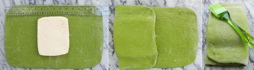 cách làm bánh sừng bò trà xanh 4