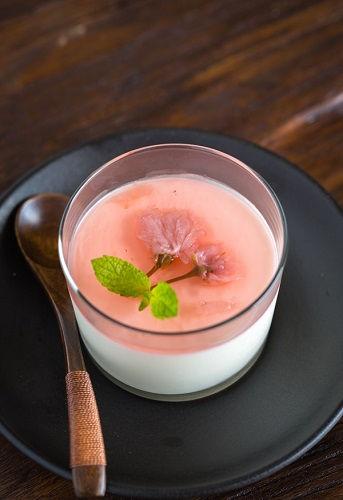 cách làm pudding hoa anh đào 1