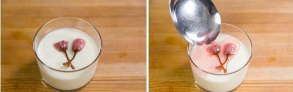 cách làm pudding hoa anh đào 3