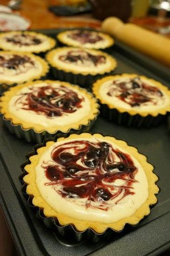 cách làm bánh tart phô mai việt quất 1