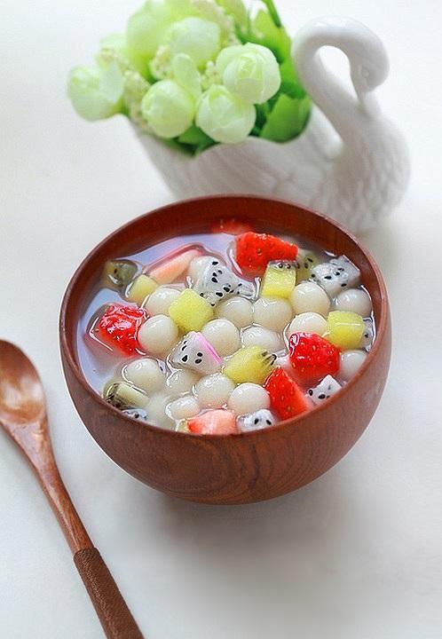 cách làm chè trân châu hoa quả 1
