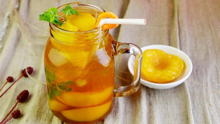 cách làm trà đào cam sả Cách làm trà đào cam sả tại nhà thơm ngon chuẩn ngoài hàng tr       o cam s    1