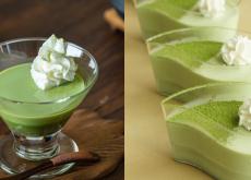 cách làm thạch pudding trà xanh