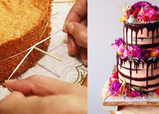 Mẹo trang trí bánh gato nhiều tầng vững và đều nhất-89