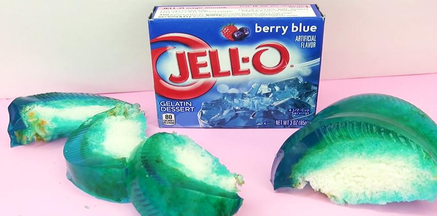 Độc lạ với cách làm bánh thạch jello việt quất xanh