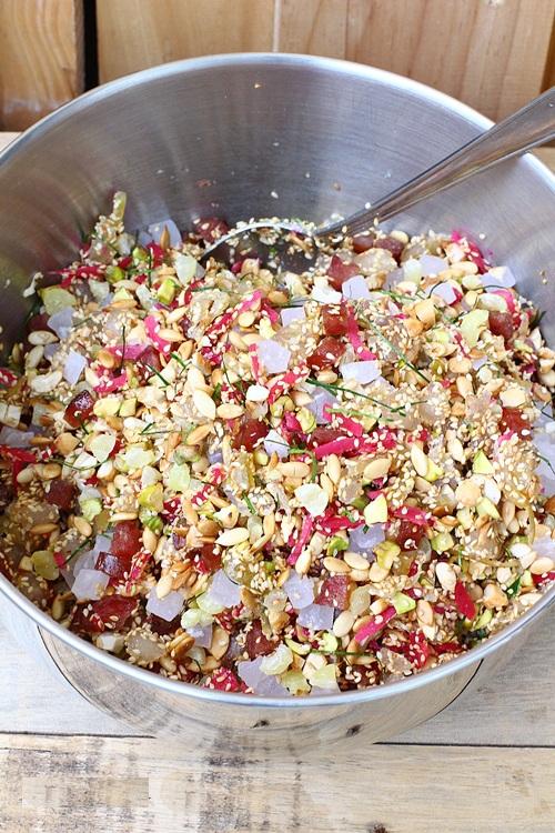 Cách làm bánh trung thu nhân thập cẩm chay ngon-1