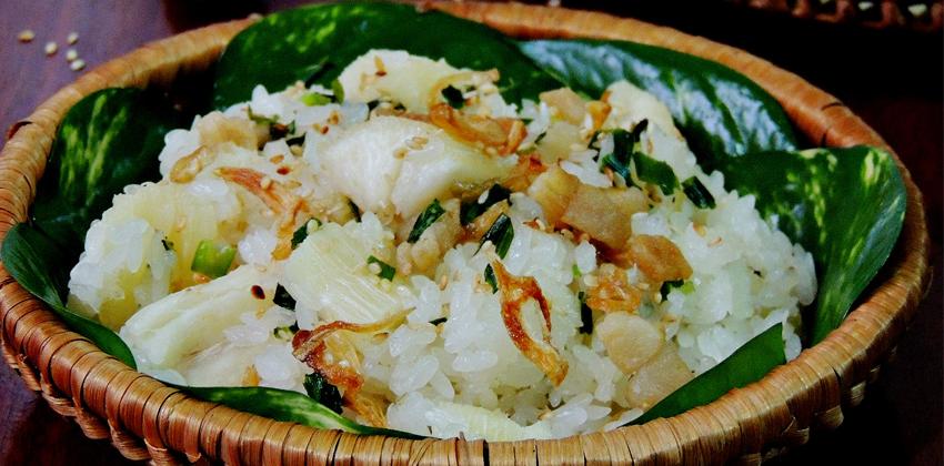 cách làm xôi sắn cách nấu xôi sắn Cách nấu xôi sắn thơm ngon hấp dẫn cho bữa sáng gia đình cach lam xoi san