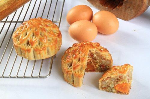 cách làm bánh nướng 4 cách làm bánh nướng Cách làm bánh Nướng nhân thập cẩm gà quay trứng muối ngon đủ vị cach lam banh nuong 4