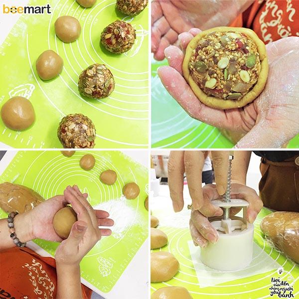 cách làm bánh nướng 8 cách làm bánh nướng Cách làm bánh Nướng nhân thập cẩm gà quay trứng muối ngon đủ vị cach lam banh nuong 8