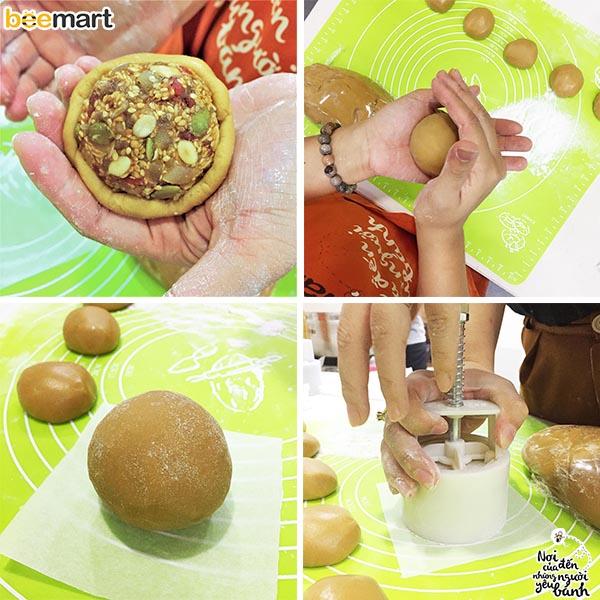 cách làm bánh trung thu 8 cách làm bánh trung thu Cách làm bánh Trung thu thập cẩm trứng muối cach lam banh trung thu 8