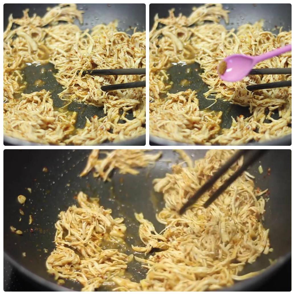 Cách làm gà khô xé cay ngon chuẩn vị-2 cách làm gà khô xé cay Cách làm gà khô xé cay ngon như ngoài hàng cach lam ga kho xe cay ngon chuan vi 4
