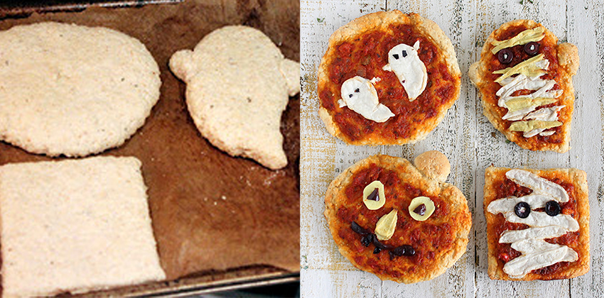 Cách làm pizza ma ngộ nghĩnh đón Halloween