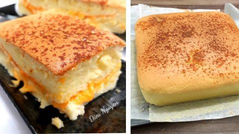 Cách làm bánh Magic cake - Bánh ma thuật 3 tầng-1 cách làm bánh magic cake Cách làm bánh Magic cake – bánh ma thuật 3 tầng cach lam banh bong lan pho mai Dai Loan ngon la mieng 13