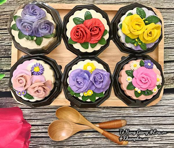 Cách làm bánh Trung thu hoa nổi đẹp mê mẩn-3 cách làm bánh trung thu hoa nổi Cách làm bánh Trung thu hoa nổi xinh hết ý, đẹp mê mẩn cach lam banh trung thu hoa noi dep me man