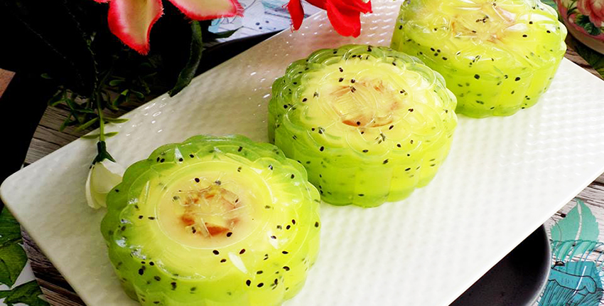 cách làm bánh trung thu rau câu kiwi nhân phô mai 1 cách làm bánh trung thu hoa nổi Cách làm bánh Trung thu hoa nổi xinh hết ý, đẹp mê mẩn cach lam banh trung thu rau cau kiwi nhan pho mai 1 1