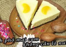 Cách làm bánh phô mai cam không cần lò nướng-567  Cách làm bánh phô mai cam không cần lò nướng cach lam banh pho mai cam 230x165