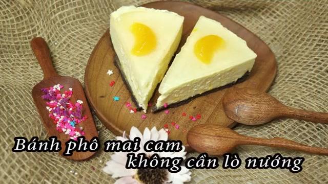 Cách làm bánh phô mai cam không cần lò nướng-567  Cách làm bánh phô mai cam không cần lò nướng cach lam banh pho mai cam khong can lo nuong