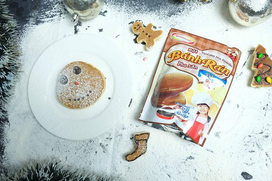 Cách làm bánh Pancake Giáng sinh-586 cách làm bánh pancake giáng sinh Ngộ nghĩnh cách làm bánh Pancake Giáng sinh yêu đừng hỏi cach lam banh Pancake giang sinh