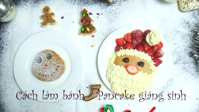 Cách làm bánh Pancake Giáng sinh-56 cách làm bánh pancake giáng sinh Ngộ nghĩnh cách làm bánh Pancake Giáng sinh yêu đừng hỏi cach lam banh pancake giang sinh