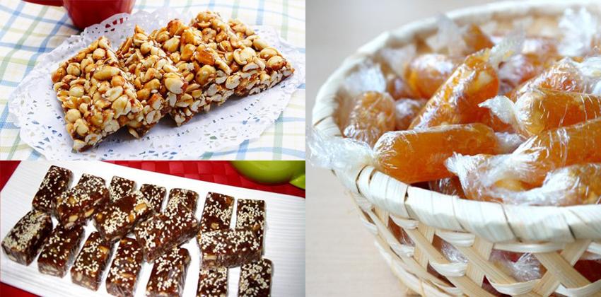 Cách làm các loại kẹo đơn giản cho Tết truyền thống