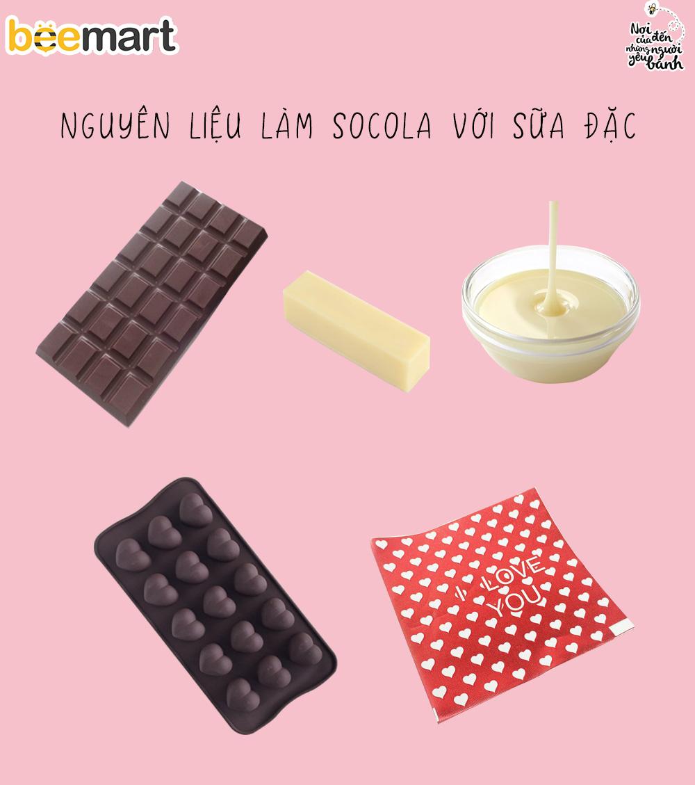 cách làm socola với sữa đặc 3 cách làm socola Cách làm socola với sữa đặc siêu nhanh, siêu dễ cach lam socola voi sua dac
