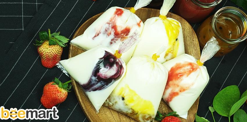 cách làm sữa chua túi vị hoa quả cách làm sữa chua vị hoa quả Cách làm sữa chua vị hoa quả rực rỡ sắc màu, đẹp da, giữ dáng cach lam sua chua tui vi hoa qua 4