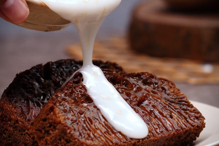 Bánh bò thốt nốt bánh bò thốt nốt Bánh bò thốt nốt béo ngậy gây sốt mùa hè này b  nh b   bbb