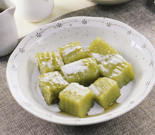 bánh đúc lá dứa nước dừa bánh đúc lá dứa nước dừa Cách làm bánh đúc lá dứa nước dừa dai mềm cực hấp dẫn banh duc la dua nuoc dua 4